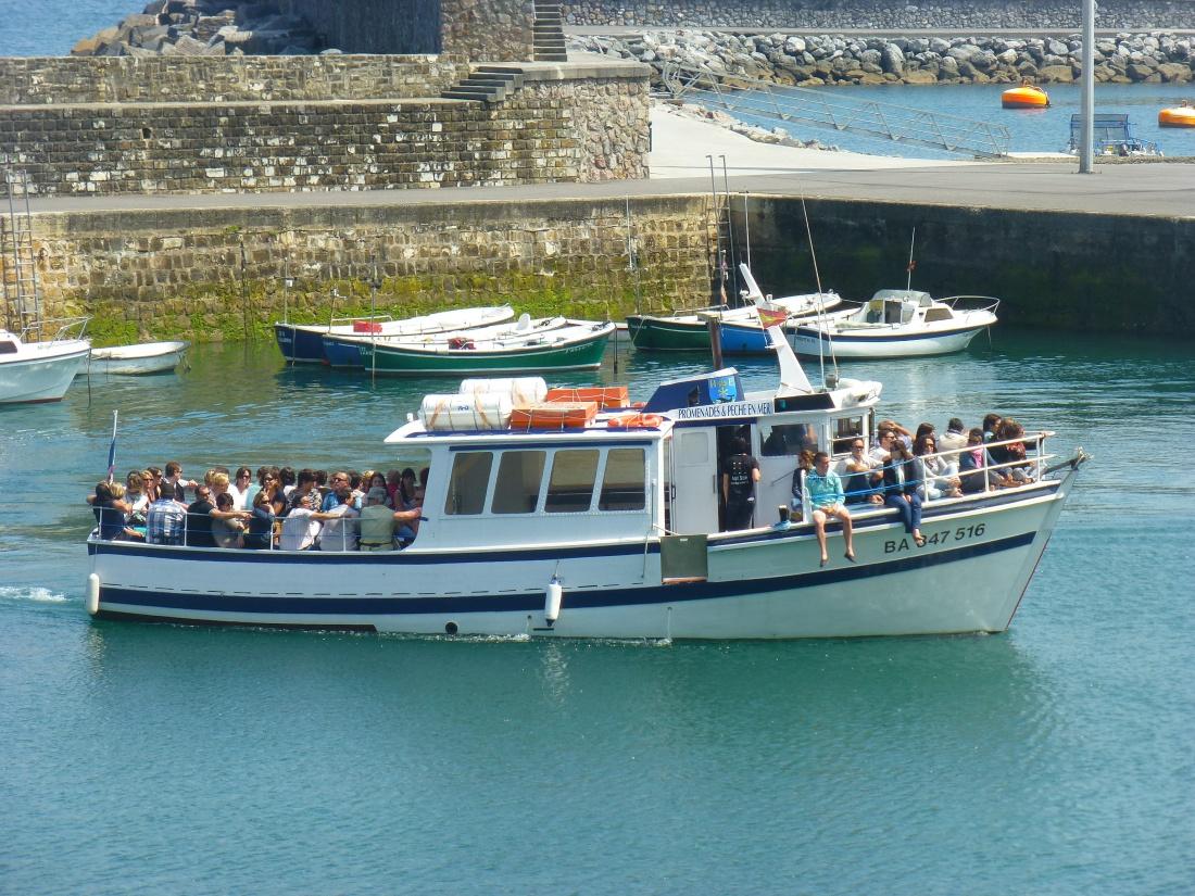 promenade bateau biarritz